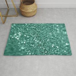 Green glitter Rug