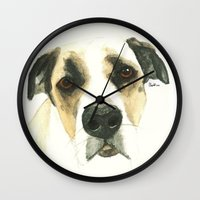 floyd Wall Clocks featuring Floyd by Carolyn Campbell