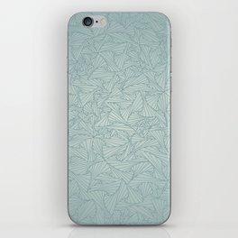 Gray Blue Retro Geometric Waltz iPhone Skin