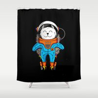 Intercatlactic! to the delicious Milky way!!! Shower Curtain
