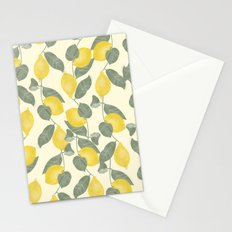 Citrus Pattern Stationery Cards