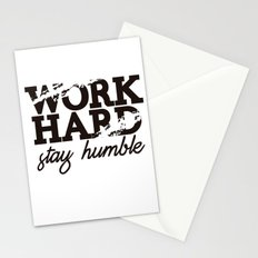 WORK HARD STAY HUMBLE Stationery Cards