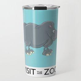 Visit the Zoo Rhino Travel Mug