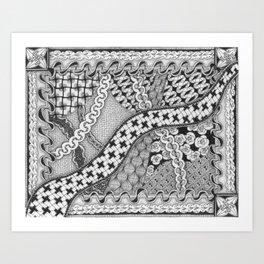 Zentangle®-Inspired Art - ZIA 40 Art Print