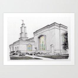 San Antonio Temple Art Print