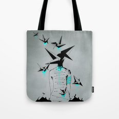 Origami's dream - A collaboration between Christelle Guilhen and Gwenola de Muralt - Tote Bag