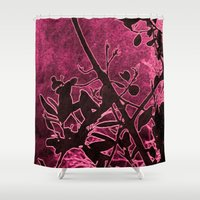 cherry Shower Curtains featuring Cherry by AlexinaRose