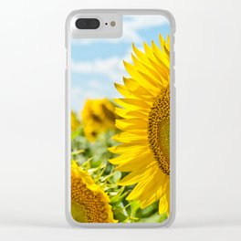 Burst of Sunflower Clear iPhone Case