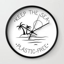 Keep the Sea Plastic-Free Wall Clock