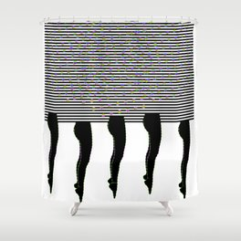 Legs, Disco and Stripes Shower Curtain