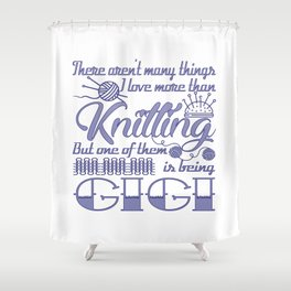 Knitting Gigi Shower Curtain