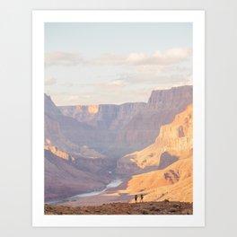 Hikers Art Print