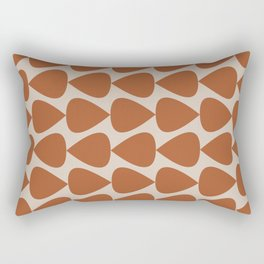 Plectrum Pattern in Clay and Putty  Rectangular Pillow