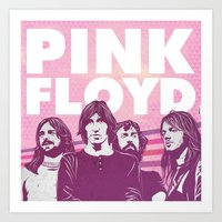 floyd Art Prints featuring Pink Floyd by jnk2007