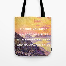 Sunset in the Sky with Diamonds Tote Bag