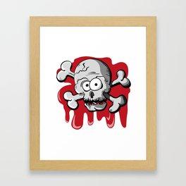 Skull with blood Framed Art Print