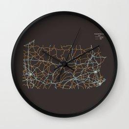 Pennsylvania Highways Wall Clock