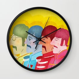 John, Paul George and Ringo Wall Clock