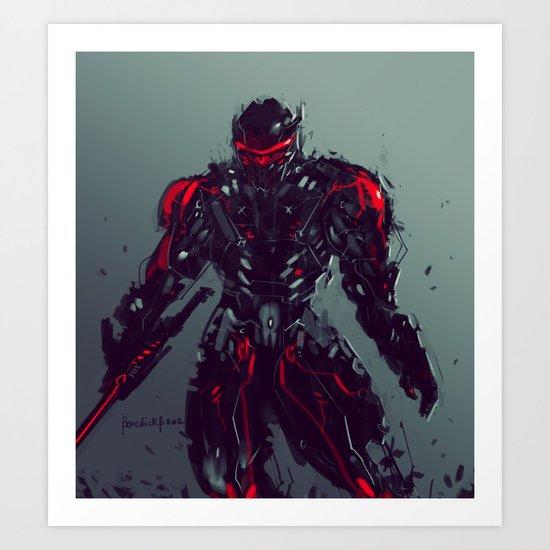 Blak Python Suit Art Print