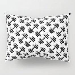 Dumbbellicious / Black and white dumbbell pattern Pillow Sham
