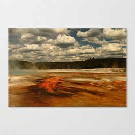 Hot And Colorful Thermal Area Canvas Print