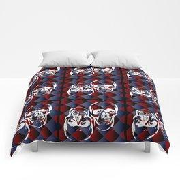 Skull chessboard pattern Comforters