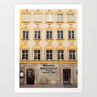 mozart Art Prints featuring Mozart Residence  by Laura Ruth