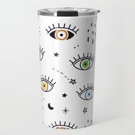 Spiritual Luck Eyes Pattern Travel Mug