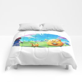 Ash meets Finn and Jake Comforters
