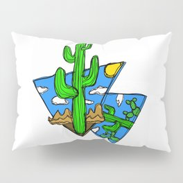 Abstract Cactus Pillow Sham