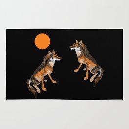 Iberian wolves and the sun (c) 2017 Rug