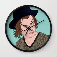 harry Wall Clocks featuring Harry by timetoewill