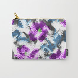 """""""Watercolor glamour """". Lilac - blue. Carry-All Pouch"""