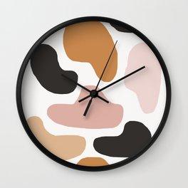 Titania - earthtones abstract minimal modern home decor art print Wall Clock