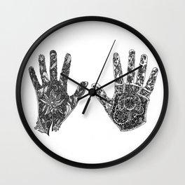 Hands of Contrast Wall Clock