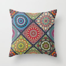Tiled Boho Mandelas 1 Throw Pillow