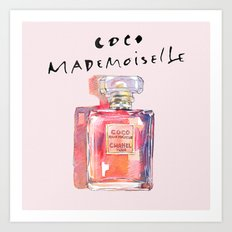 Perfume Coco Mademoiselle Illustration Art Print