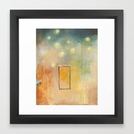 bird and open window Framed Art Print