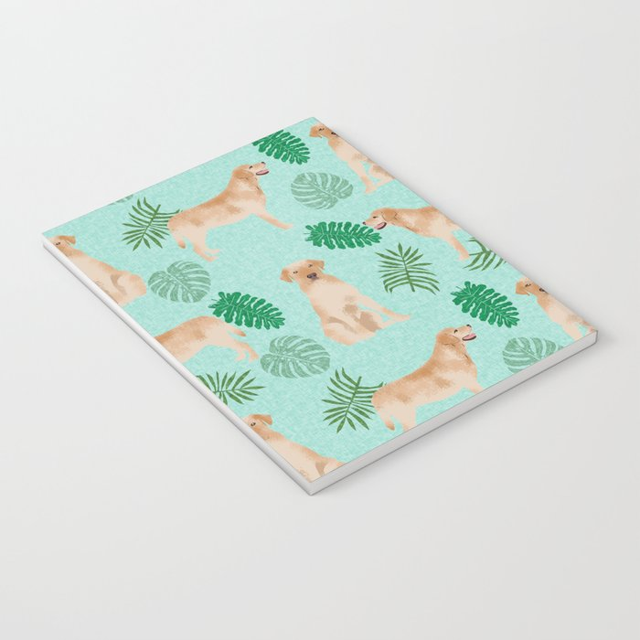 Yellow Lab summer monstera tropical pure breed dog gifts Notebook