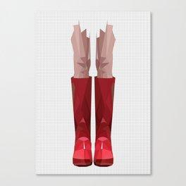 My lovely rain booths Canvas Print