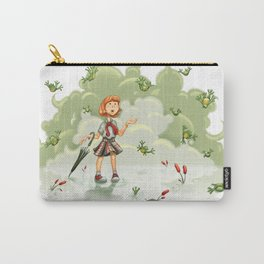 Raining Frogs Carry-All Pouch