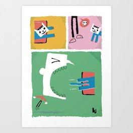 Loop cat comix Art Print