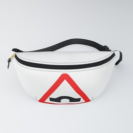 Bridge Traffic Sign Isolated Fanny Pack