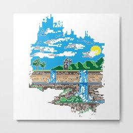Pixelfalls Metal Print