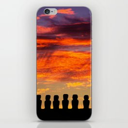 EASTER ISLAND SUNRISE iPhone Skin