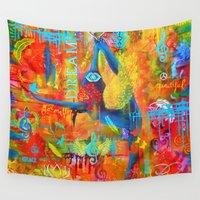grace Wall Tapestries featuring Grace by Michelle Potter Visionary Artist