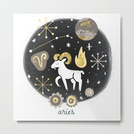 Aries Fire Metal Print
