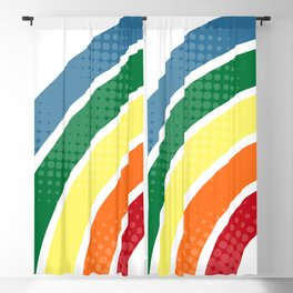 Retro stripes Blackout Curtain