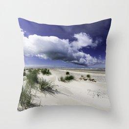 Grenen Beach Panorama Throw Pillow