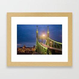 Budapest Bridge Framed Art Print